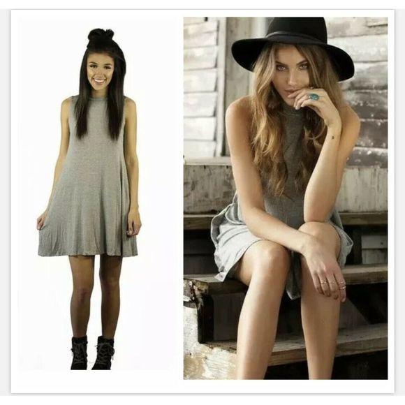 Elan Striped Black White Tank Swing Dress M